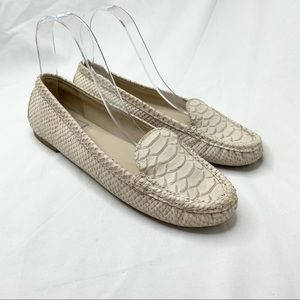 Talbots Cream Leather Loafers